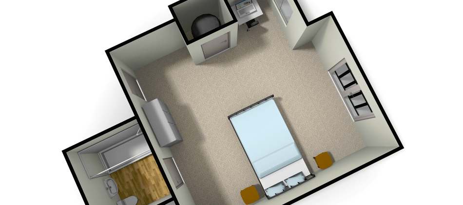 Floor plans for all rooms